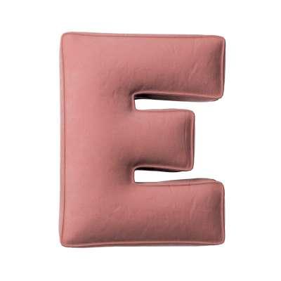 Buchstabenkissen E von der Kollektion Posh Velvet, Stoff: 704-30
