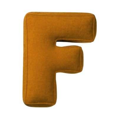 Buchstabenkissen F von der Kollektion Posh Velvet, Stoff: 704-23