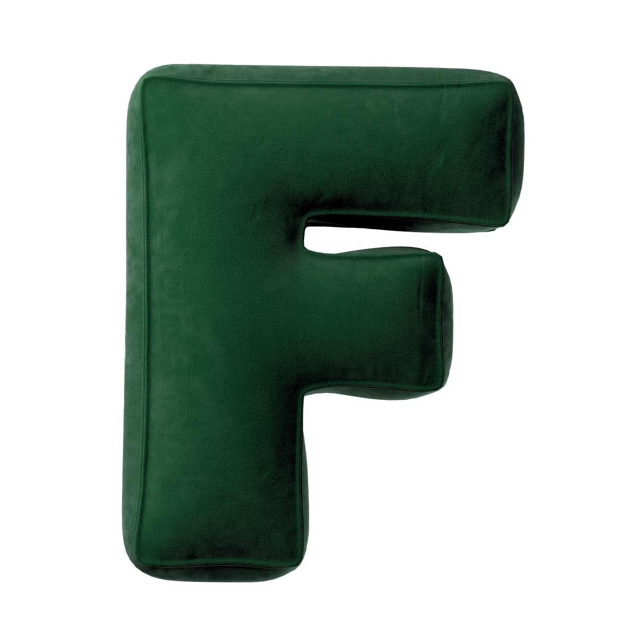 Buchstabenkissen F von der Kollektion Posh Velvet, Stoff: 704-13