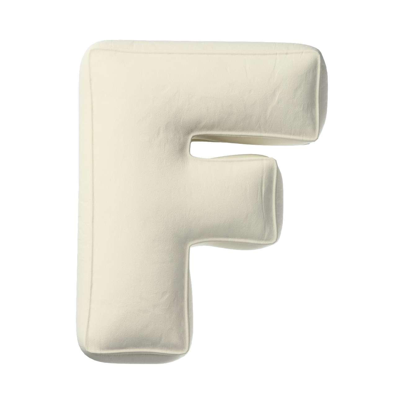 Buchstabenkissen F von der Kollektion Posh Velvet, Stoff: 704-10