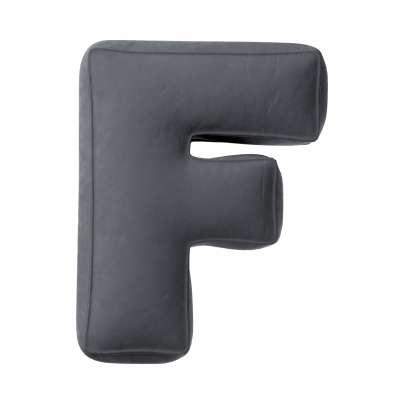 Raidė pagalvėlė F kolekcijoje Posh Velvet, audinys: 704-12