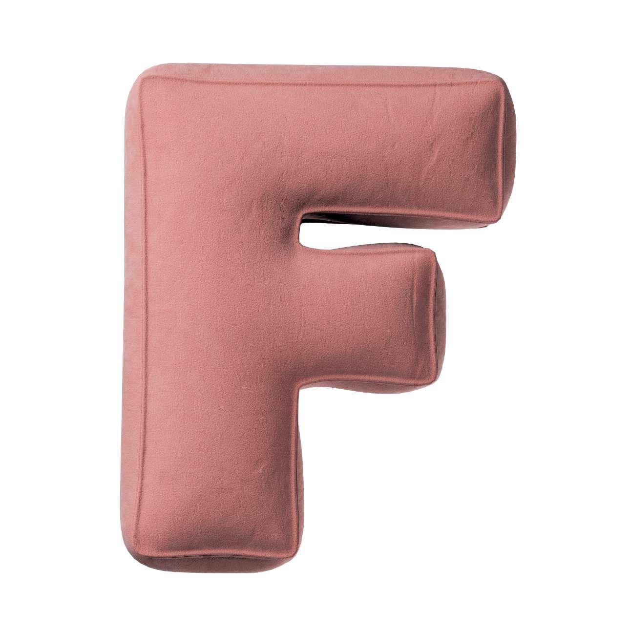Raidė pagalvėlė F kolekcijoje Posh Velvet, audinys: 704-30
