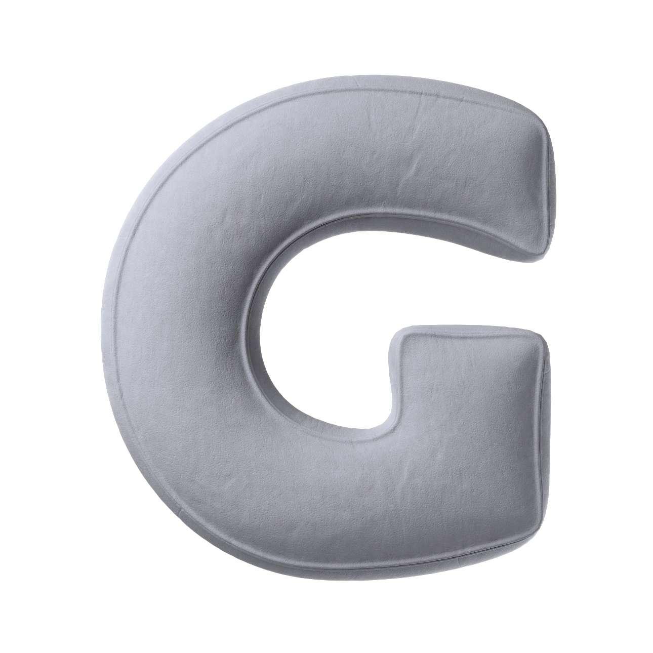 Buchstabenkissen G von der Kollektion Posh Velvet, Stoff: 704-24
