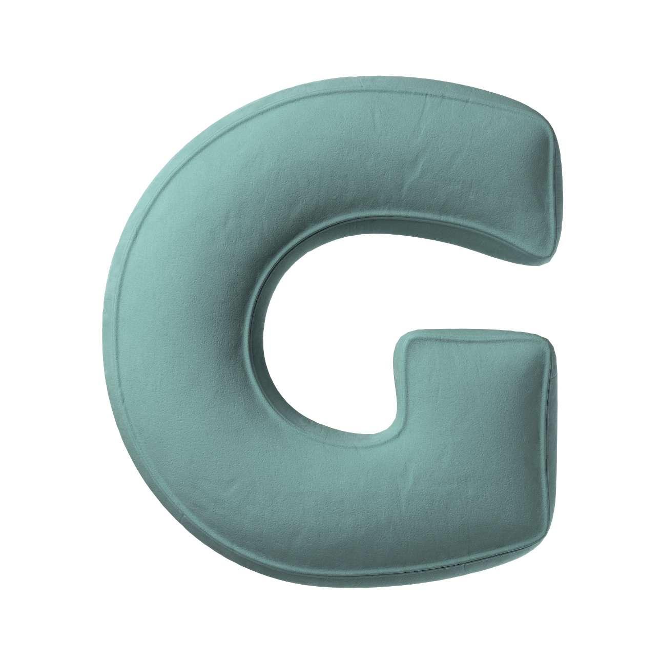 Buchstabenkissen G von der Kollektion Posh Velvet, Stoff: 704-18