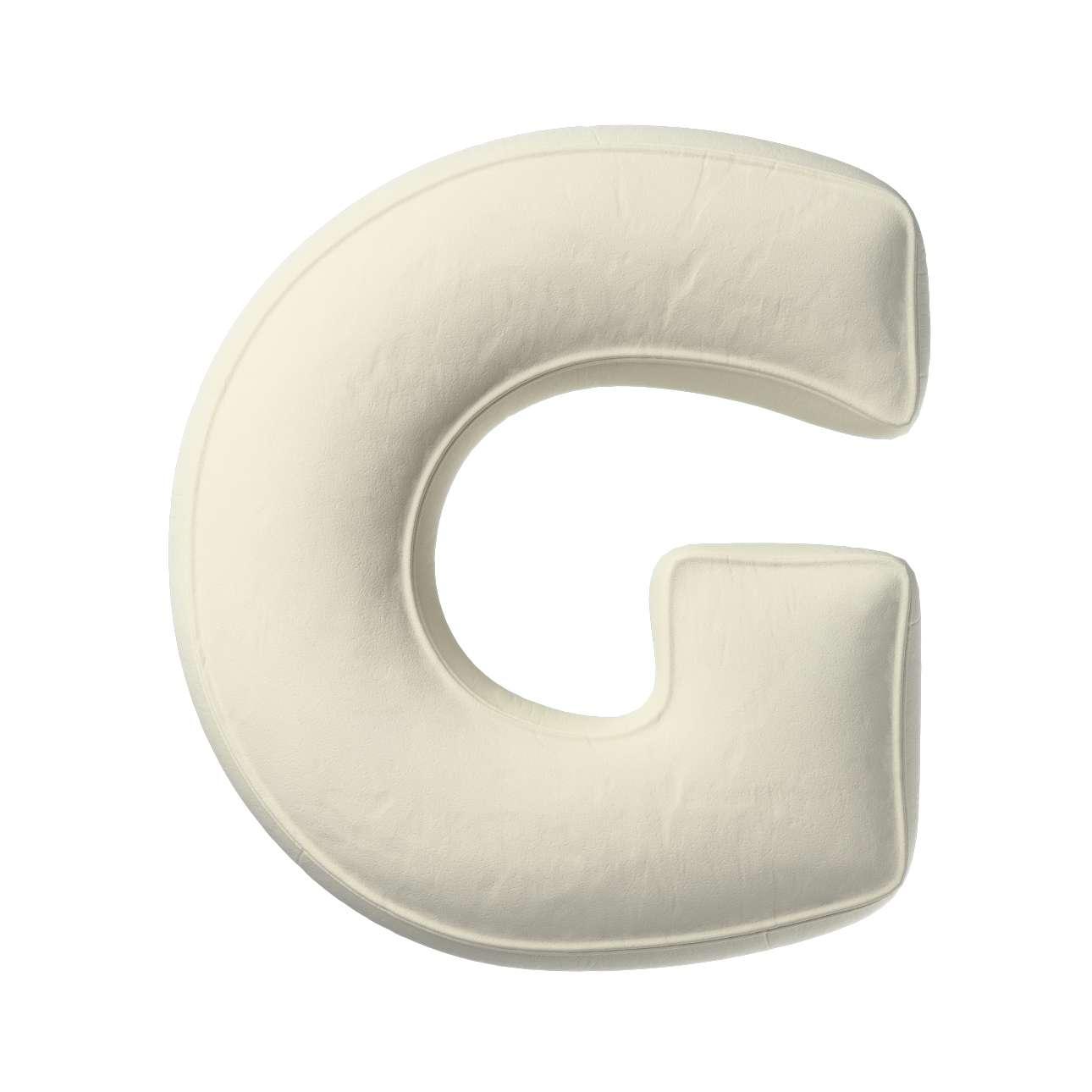 Buchstabenkissen G von der Kollektion Posh Velvet, Stoff: 704-10