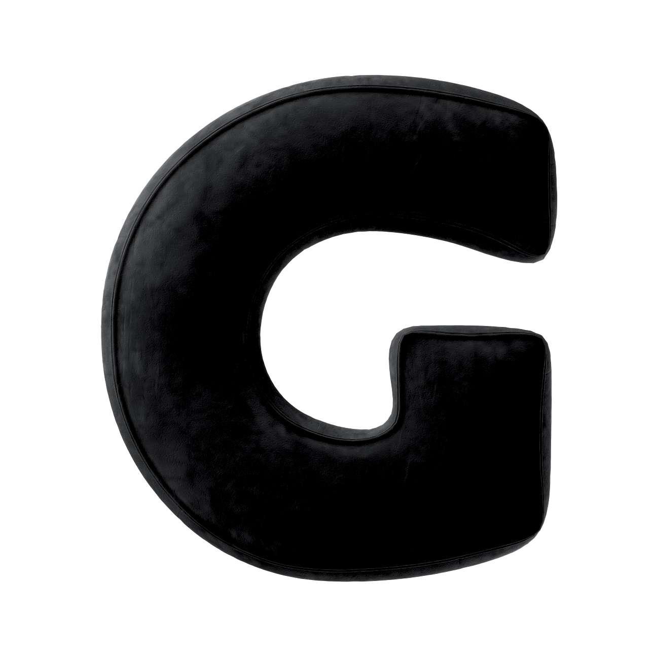 Buchstabenkissen G von der Kollektion Posh Velvet, Stoff: 704-17