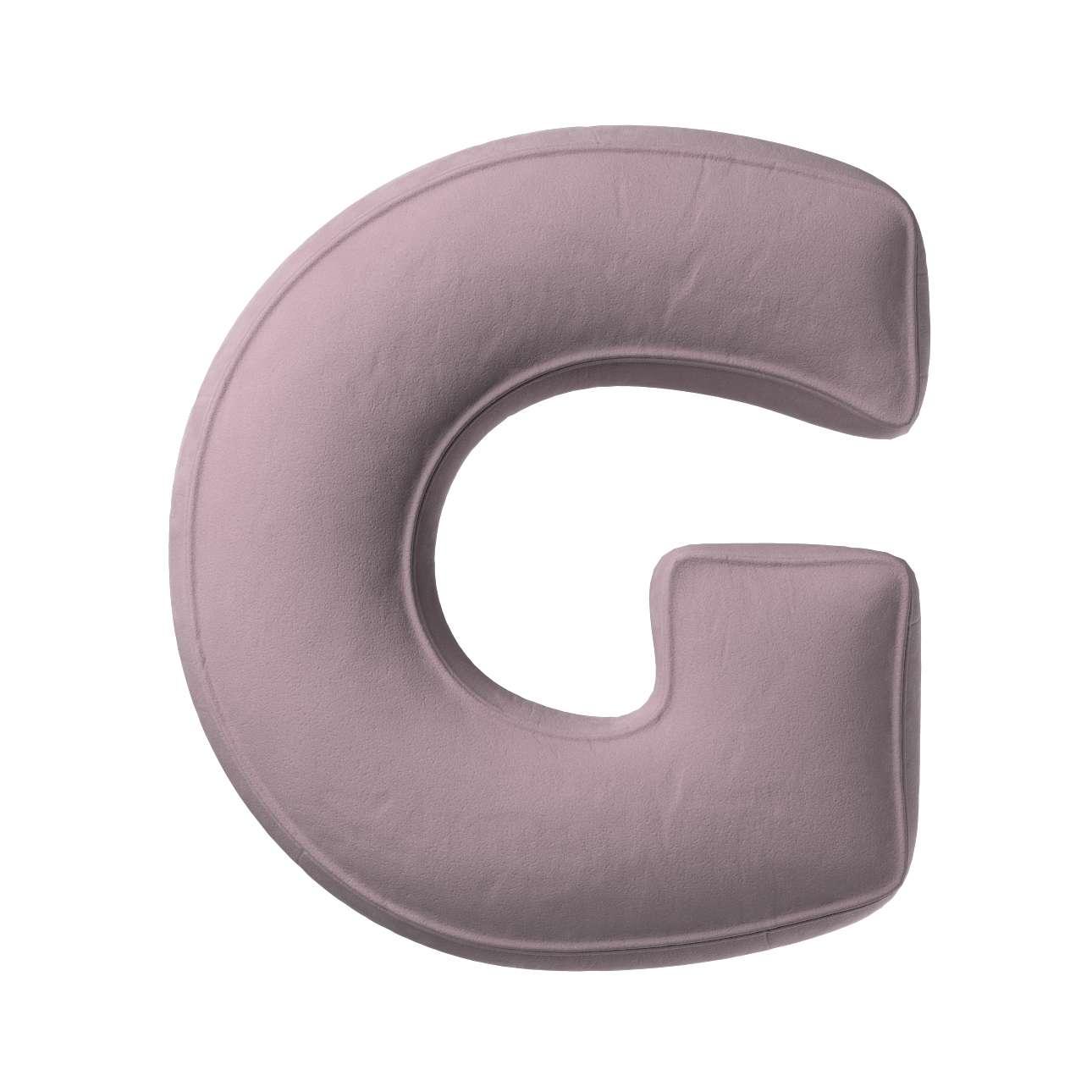Buchstabenkissen G von der Kollektion Posh Velvet, Stoff: 704-14