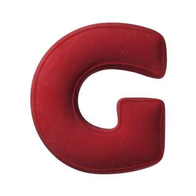 Buchstabenkissen G von der Kollektion Posh Velvet, Stoff: 704-15