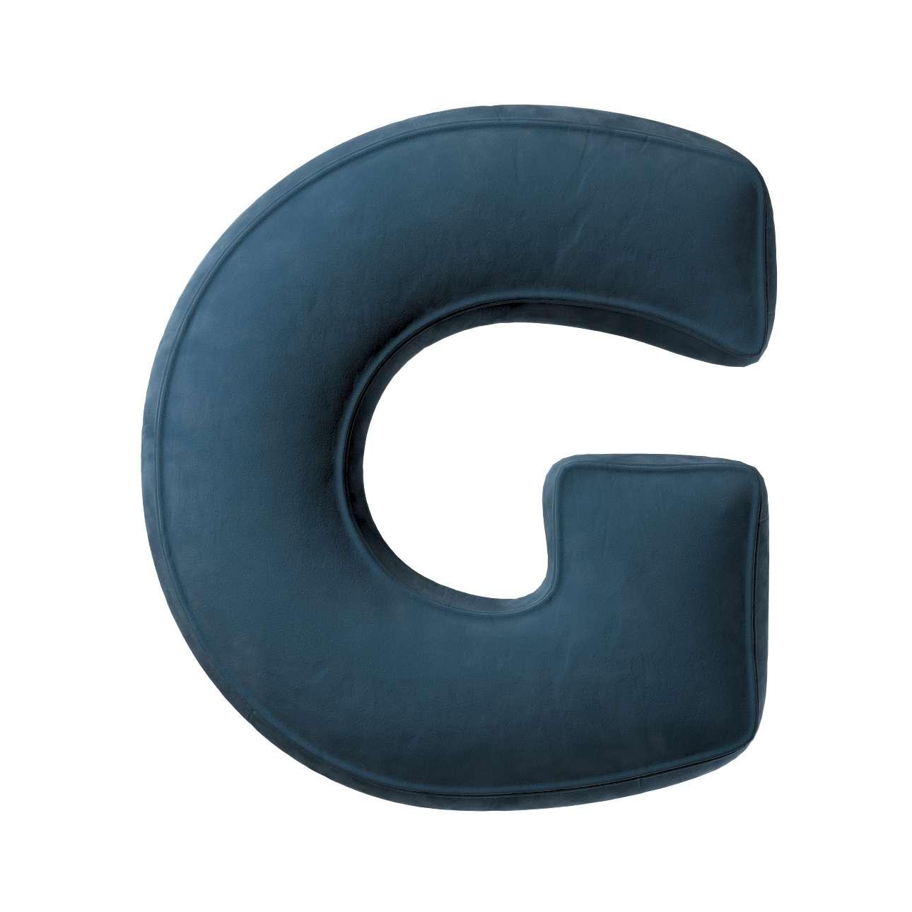 Buchstabenkissen G von der Kollektion Posh Velvet, Stoff: 704-16