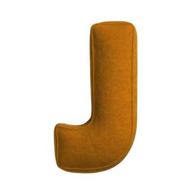 Raidė pagalvėlė  J kolekcijoje Posh Velvet, audinys: 704-23