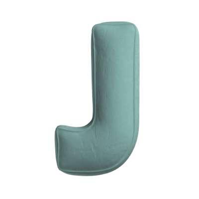 Raidė pagalvėlė  J kolekcijoje Posh Velvet, audinys: 704-18