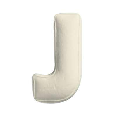 Buchstabenkissen J von der Kollektion Posh Velvet, Stoff: 704-10