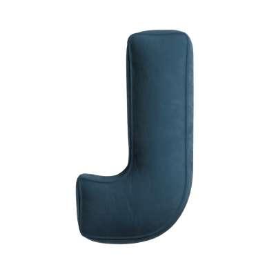 Raidė pagalvėlė  J kolekcijoje Posh Velvet, audinys: 704-16
