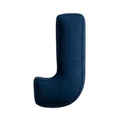 Raidė pagalvėlė  J kolekcijoje Posh Velvet, audinys: 704-29