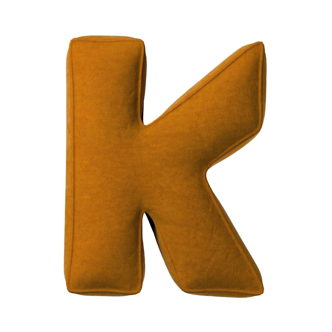 Buchstabenkissen K von der Kollektion Posh Velvet, Stoff: 704-23