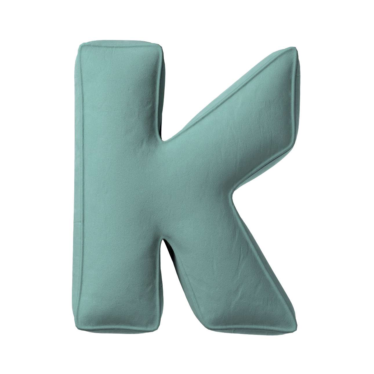 Buchstabenkissen K von der Kollektion Posh Velvet, Stoff: 704-18