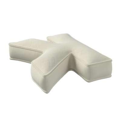 Poduszka literka K 704-10 śmietankowa biel Kolekcja Posh Velvet