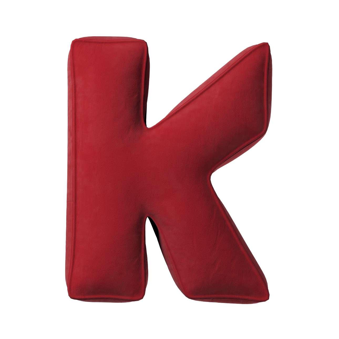 Buchstabenkissen K von der Kollektion Posh Velvet, Stoff: 704-15