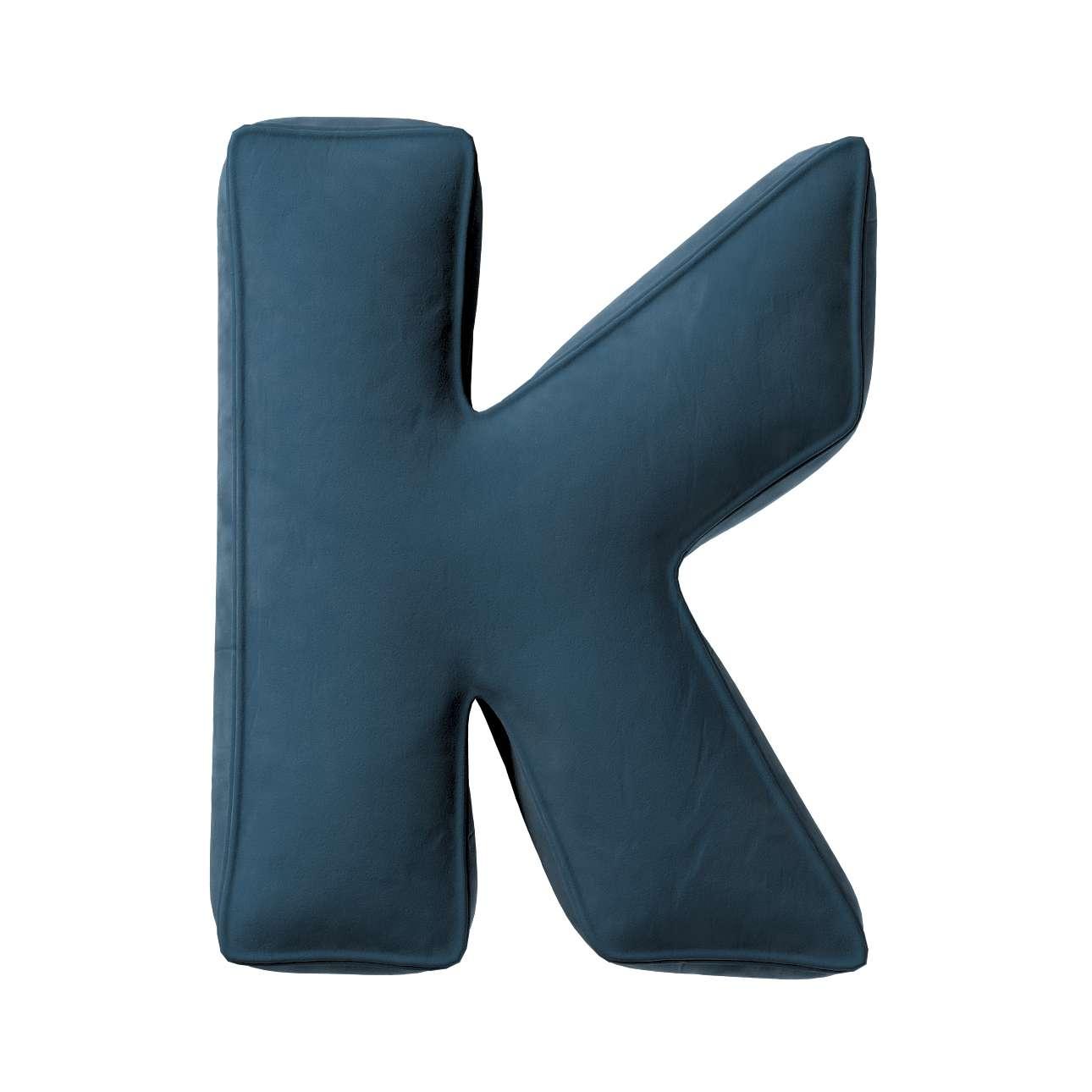 Buchstabenkissen K von der Kollektion Posh Velvet, Stoff: 704-16