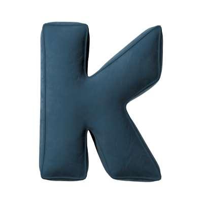 Raidė pagalvėlė K 704-16 tamsi mėlyna Kolekcija Posh Velvet