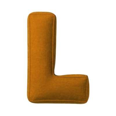 Buchstabenkissen L von der Kollektion Posh Velvet, Stoff: 704-23