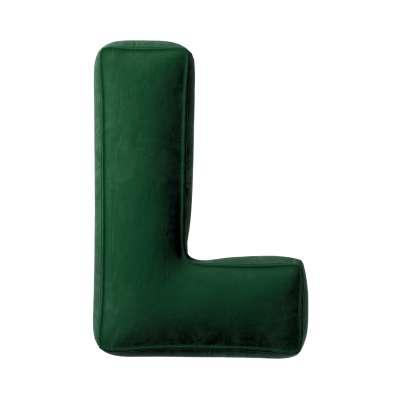 Poduszka literka L 704-13 butelkowa zieleń Kolekcja Posh Velvet