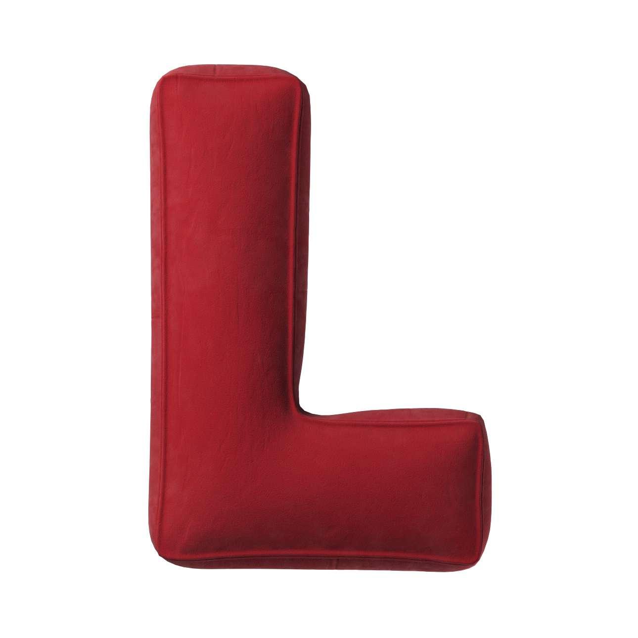 Buchstabenkissen L von der Kollektion Posh Velvet, Stoff: 704-15