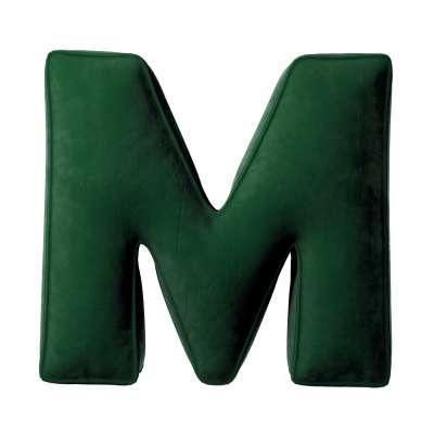 Buchstabenkissen M von der Kollektion Posh Velvet, Stoff: 704-13