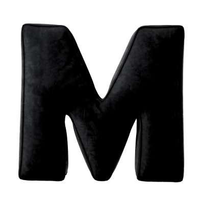 Buchstabenkissen M von der Kollektion Posh Velvet, Stoff: 704-17