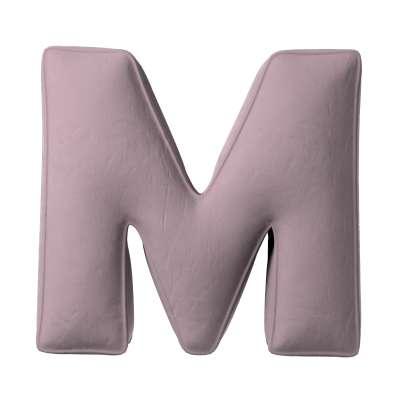 Buchstabenkissen M von der Kollektion Posh Velvet, Stoff: 704-14
