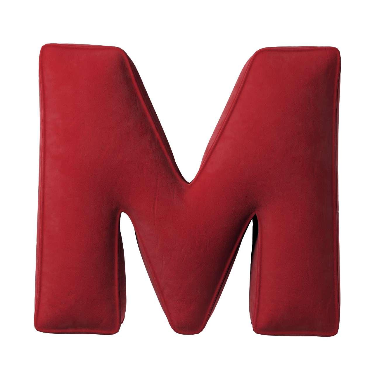 Buchstabenkissen M von der Kollektion Posh Velvet, Stoff: 704-15