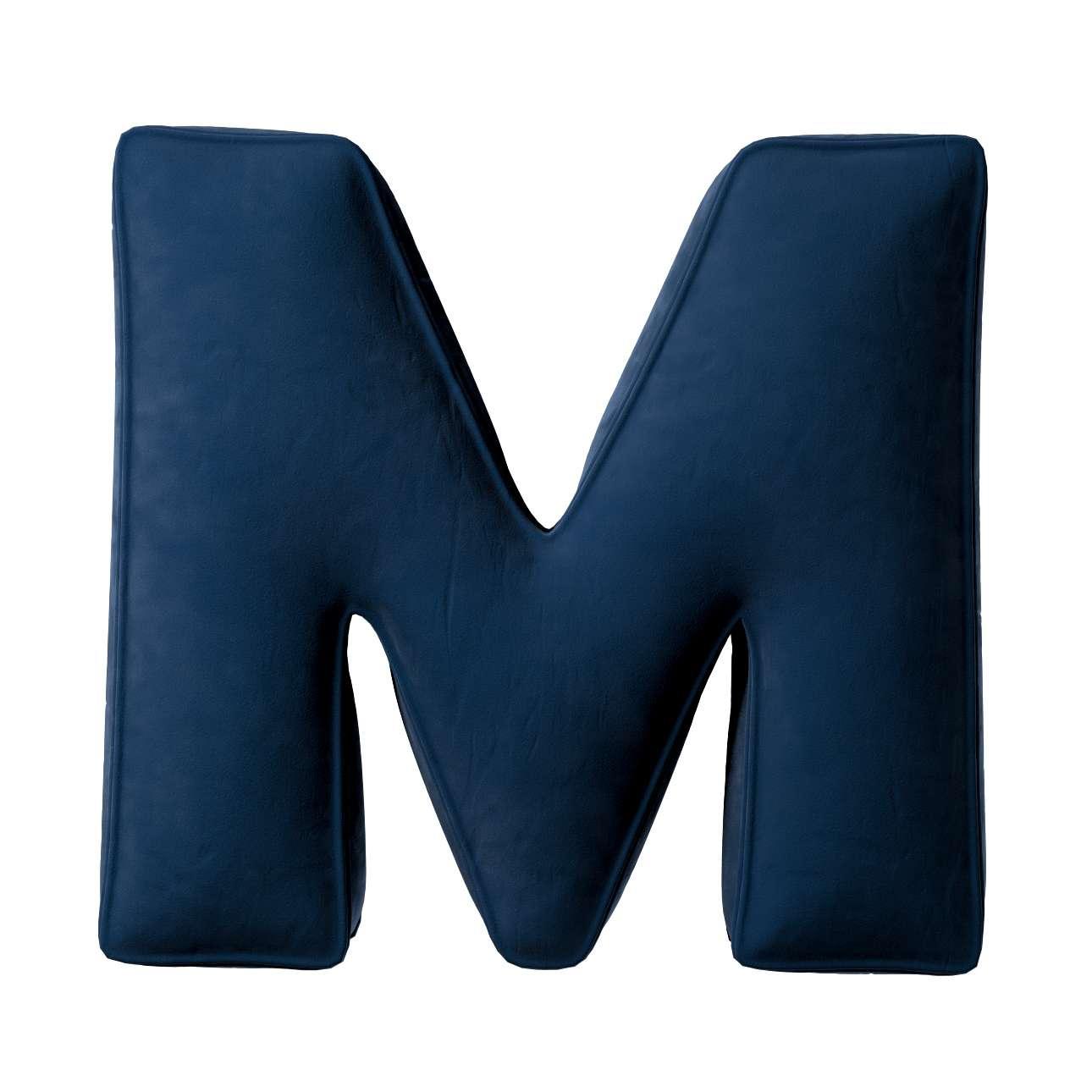 Buchstabenkissen M von der Kollektion Posh Velvet, Stoff: 704-29