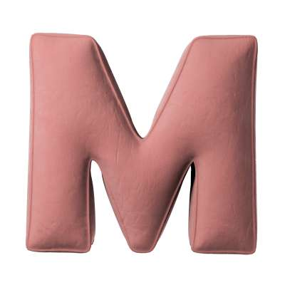 Buchstabenkissen M von der Kollektion Posh Velvet, Stoff: 704-30