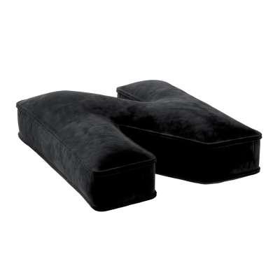 Raidė pagalvėlė N 704-17 juoda Kolekcija Posh Velvet