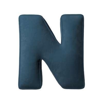 Raidė pagalvėlė N kolekcijoje Posh Velvet, audinys: 704-16