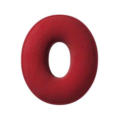 Poduszka literka O 704-15 intensywna czerwień Kolekcja Posh Velvet