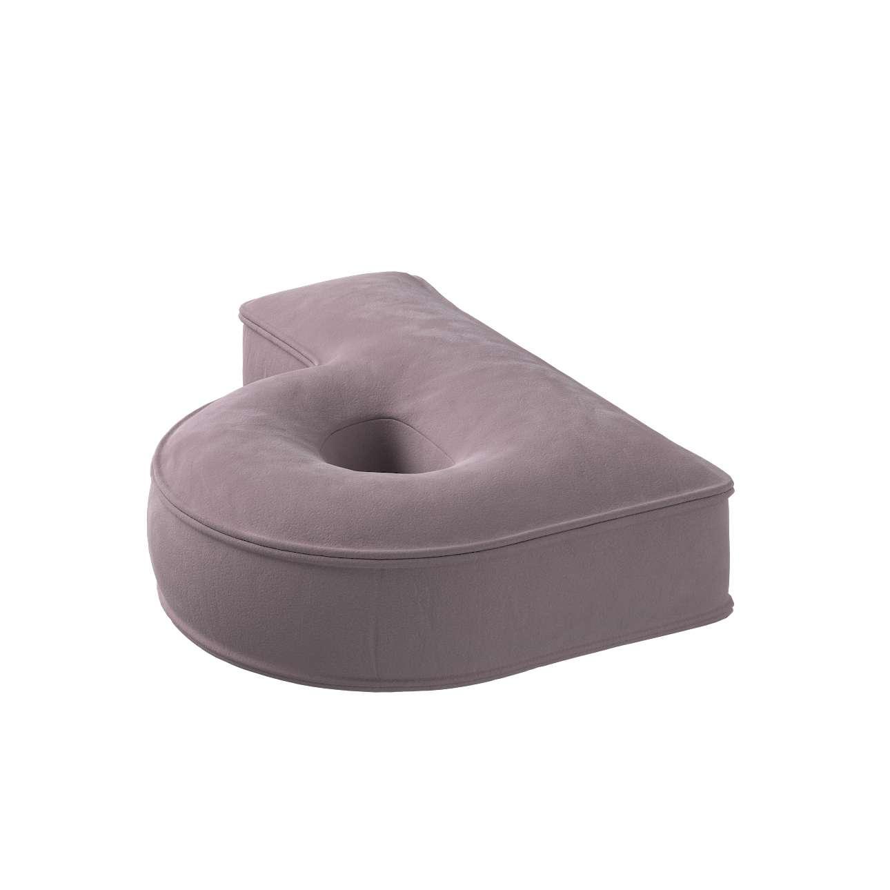 Raidė pagalvėlė P kolekcijoje Posh Velvet, audinys: 704-14
