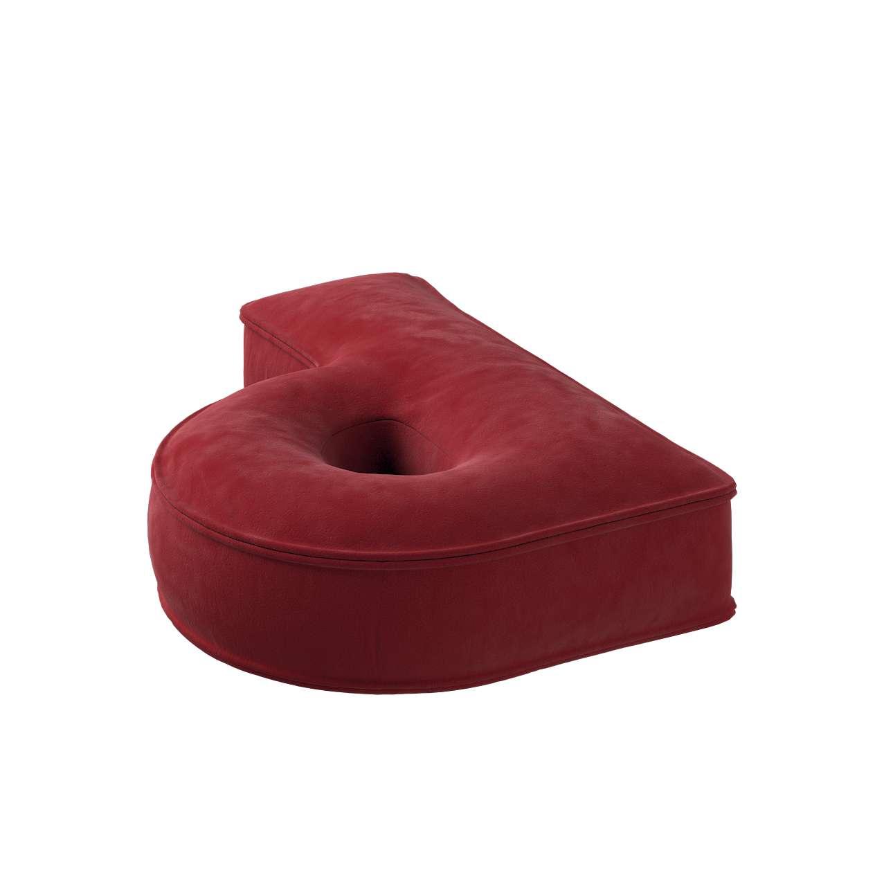Raidė pagalvėlė P kolekcijoje Posh Velvet, audinys: 704-15