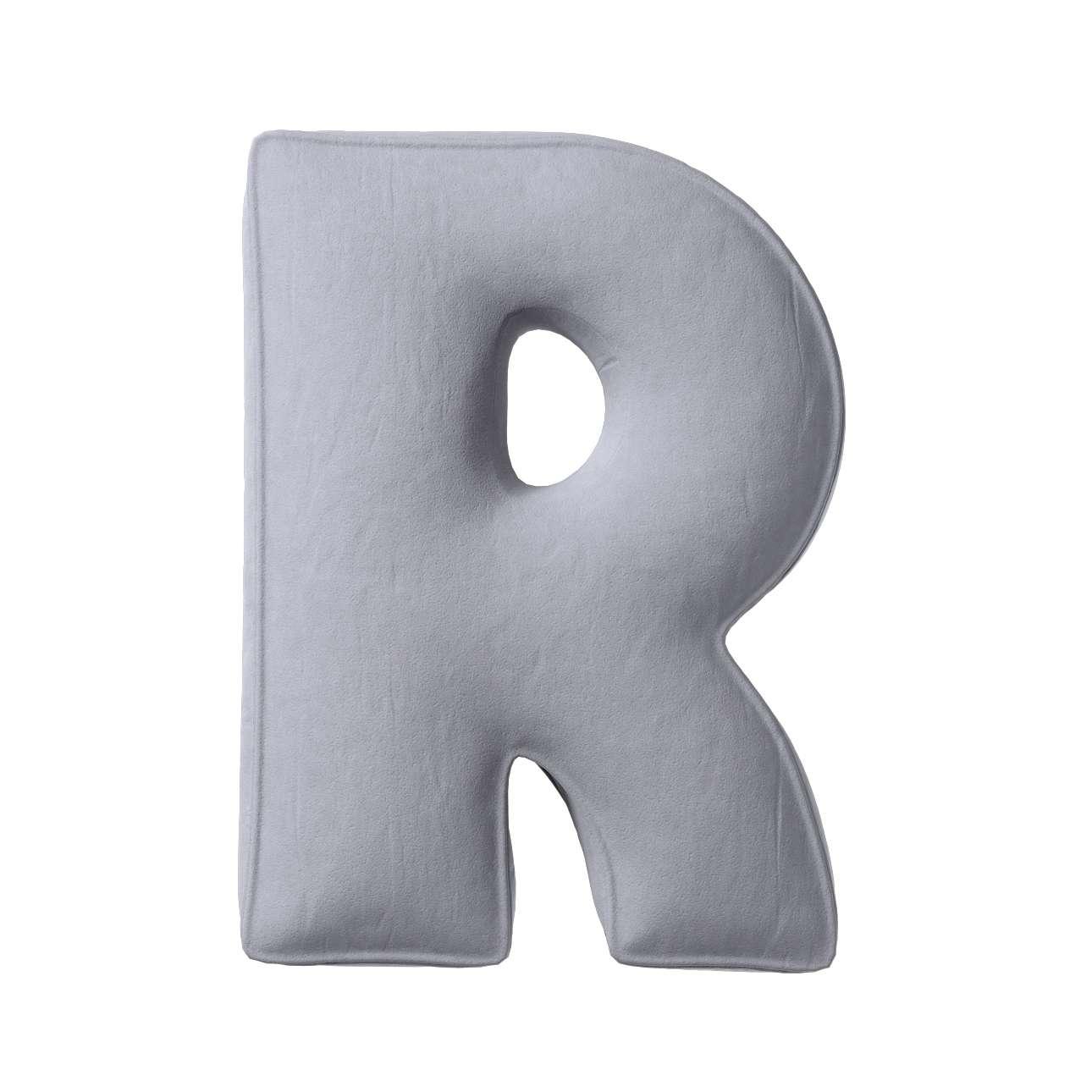 Raidė pagalvėlė R kolekcijoje Posh Velvet, audinys: 704-24