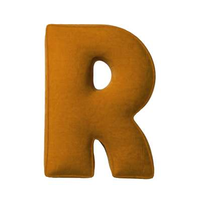Buchstabenkissen R von der Kollektion Posh Velvet, Stoff: 704-23