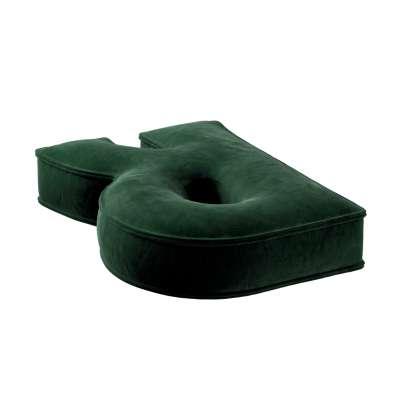 Raidė pagalvėlė R kolekcijoje Posh Velvet, audinys: 704-13