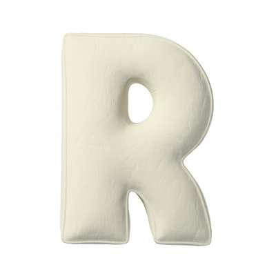 Buchstabenkissen R von der Kollektion Posh Velvet, Stoff: 704-10