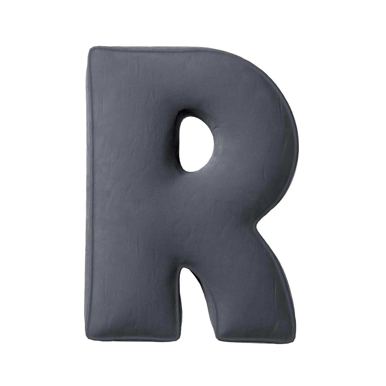 Raidė pagalvėlė R kolekcijoje Posh Velvet, audinys: 704-12