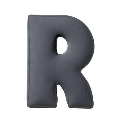 Buchstabenkissen R von der Kollektion Posh Velvet, Stoff: 704-12