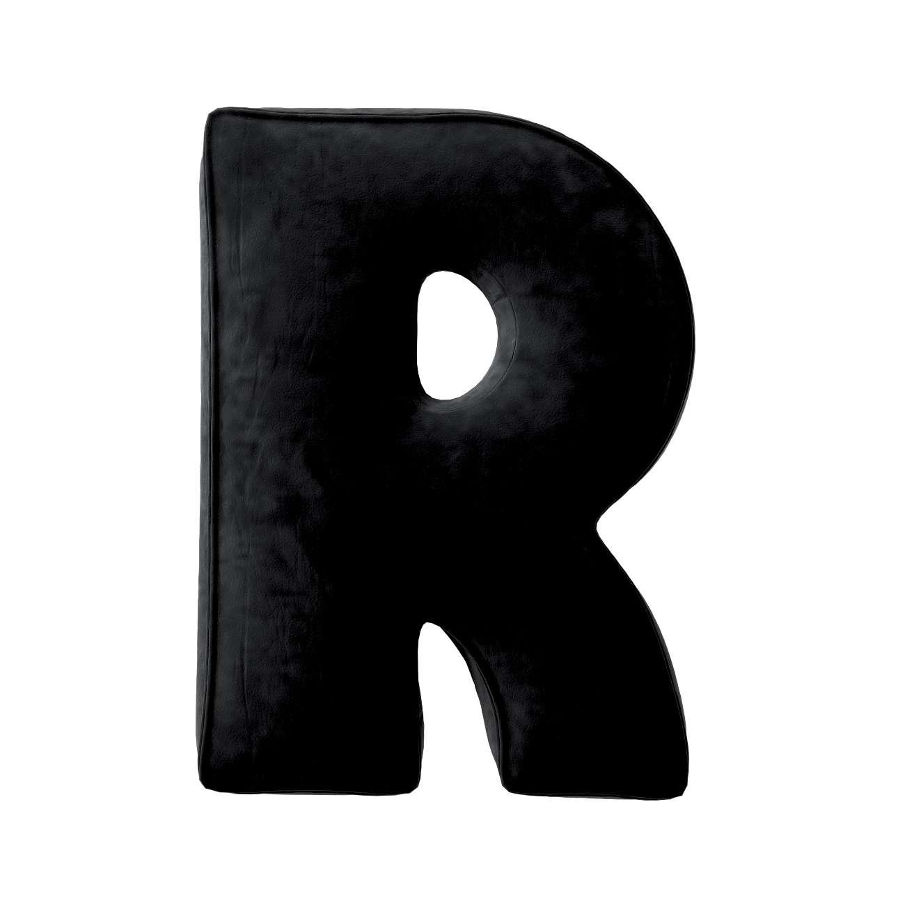 Raidė pagalvėlė R kolekcijoje Posh Velvet, audinys: 704-17