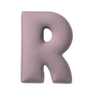 Buchstabenkissen R von der Kollektion Posh Velvet, Stoff: 704-14