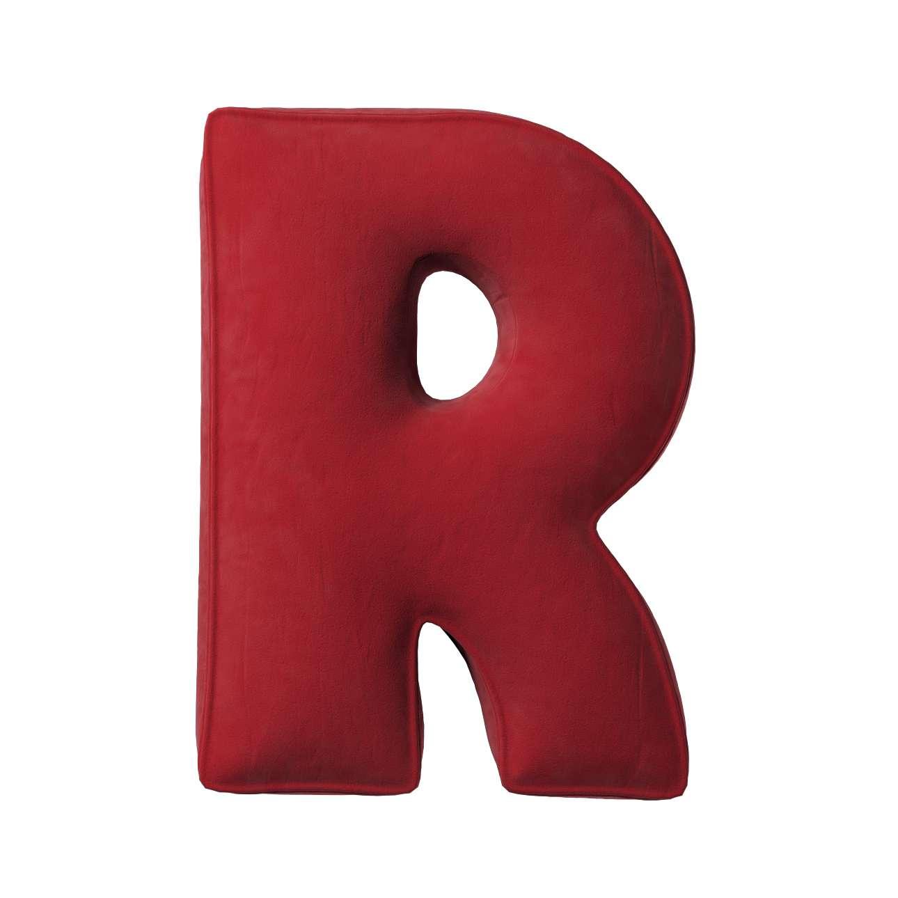 Buchstabenkissen R von der Kollektion Posh Velvet, Stoff: 704-15