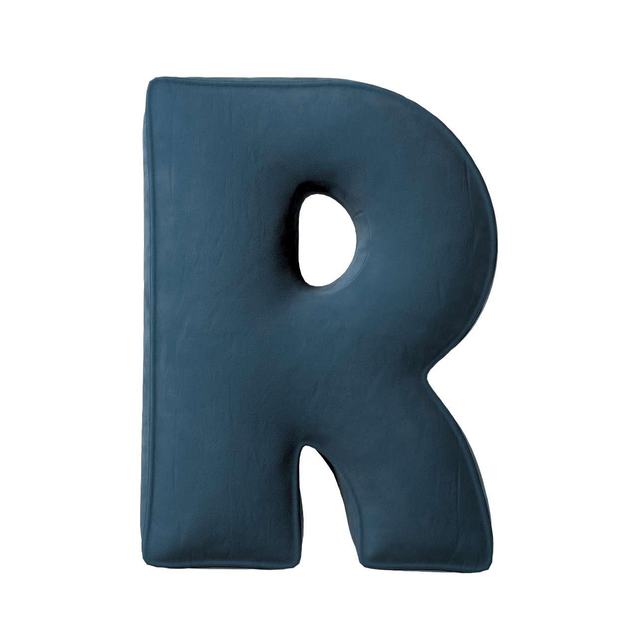 Raidė pagalvėlė R kolekcijoje Posh Velvet, audinys: 704-16
