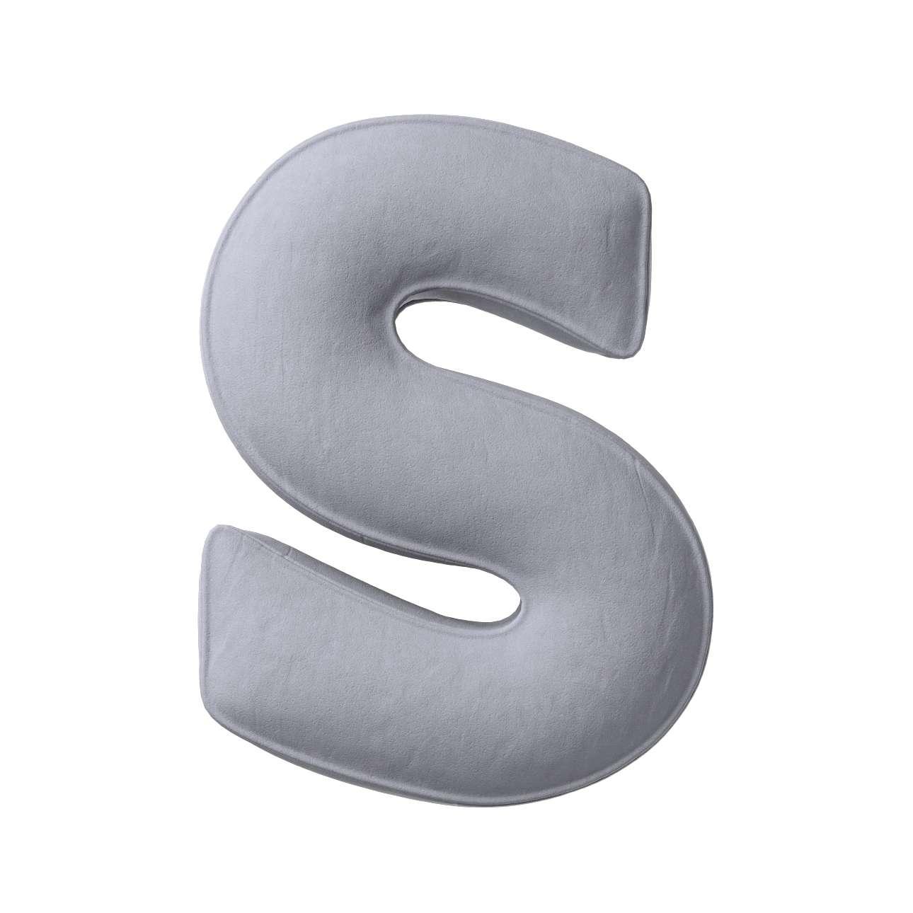 Buchstabenkissen S von der Kollektion Posh Velvet, Stoff: 704-24