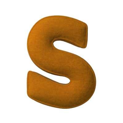 Buchstabenkissen S von der Kollektion Posh Velvet, Stoff: 704-23